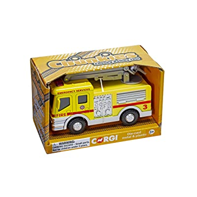 Chunkies Die Cast Airport Fire Department Engine with Crane Snorkel Truck Yellow Toy Vehicle Ages 3 & Up CH033: Toys & Games