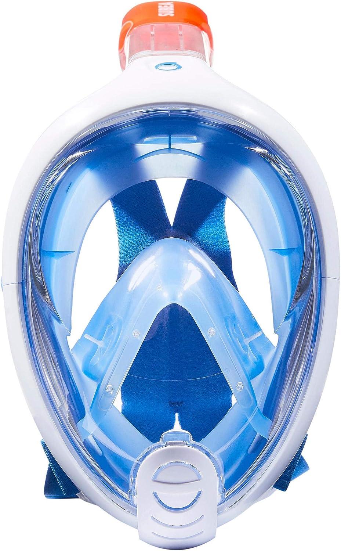 l//XL-Bleu//Blanc XS Tribord EASYBREATH schnorchelmaske s//m