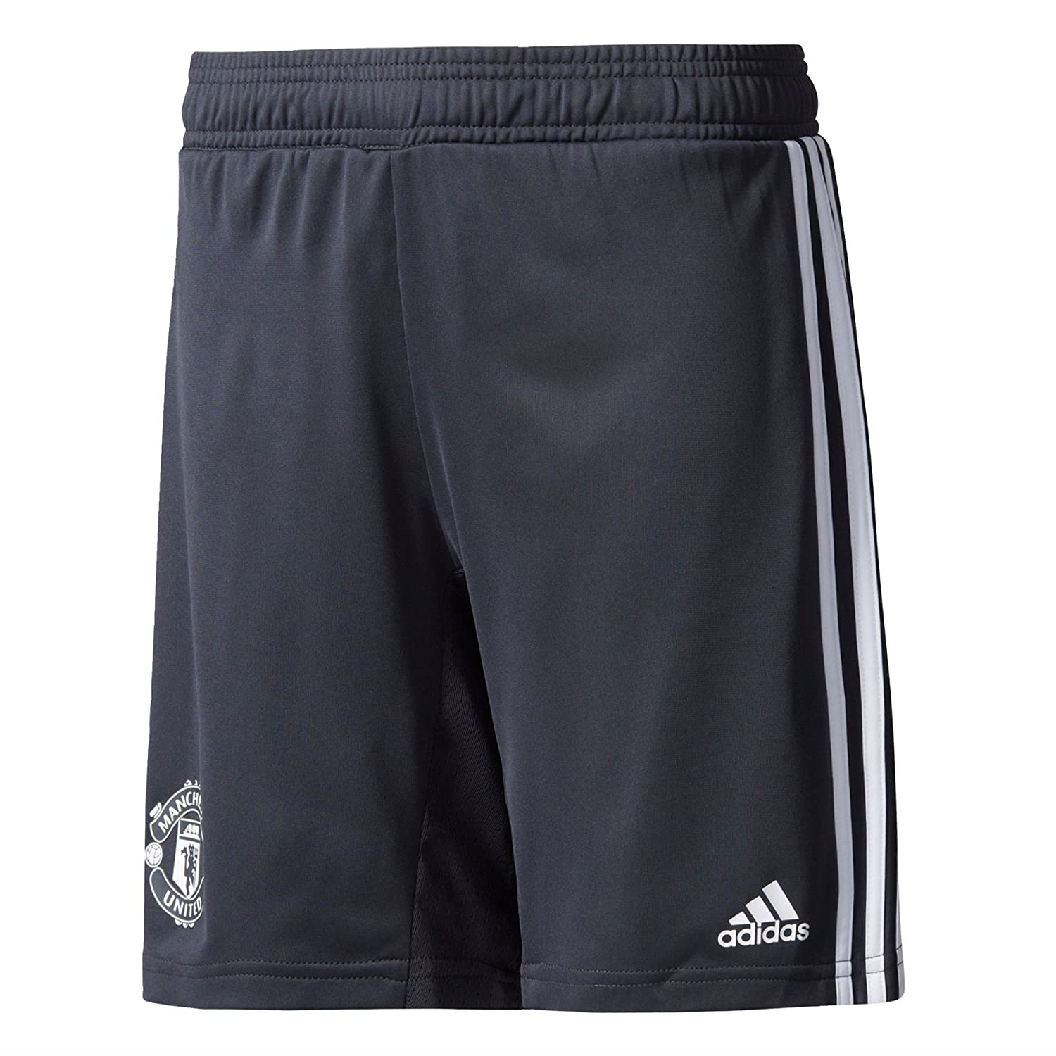 2017-2018 Man Utd Adidas Training Shorts (Night Grey) Kids B071GTT3MT XL Boys 28
