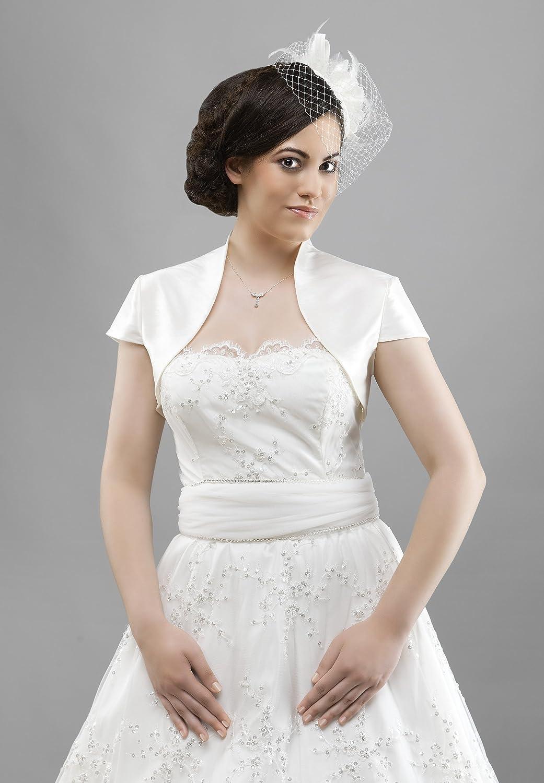 Taft Braut Bolero / Jacke zum Brautkleid, kurzarm: Amazon.de: Bekleidung