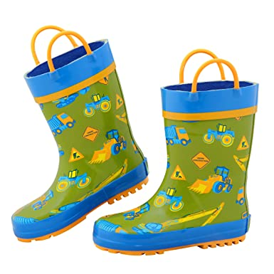 614f95ce4f548 Amazon.com  Stephen Joseph Boys All Over Print Rain Boots  Clothing