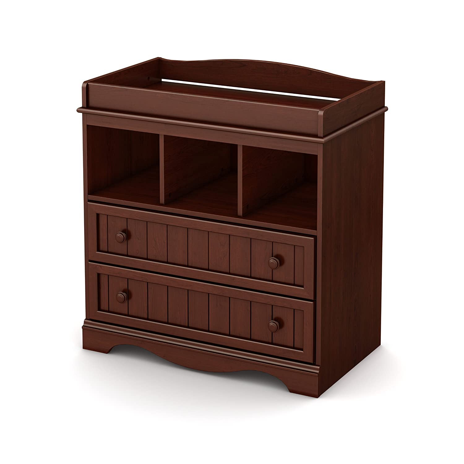 Amazon.com : South Shore Savannah 2 Drawer Changing Table, Royal Cherry :  Cherry Changing Table And Dresser : Baby Design
