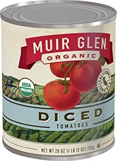 product image for Muir Glen Canned Tomatoes, Organic Diced Tomatoes, No Sugar Added, 28 Ounce Can (Pack of 12)