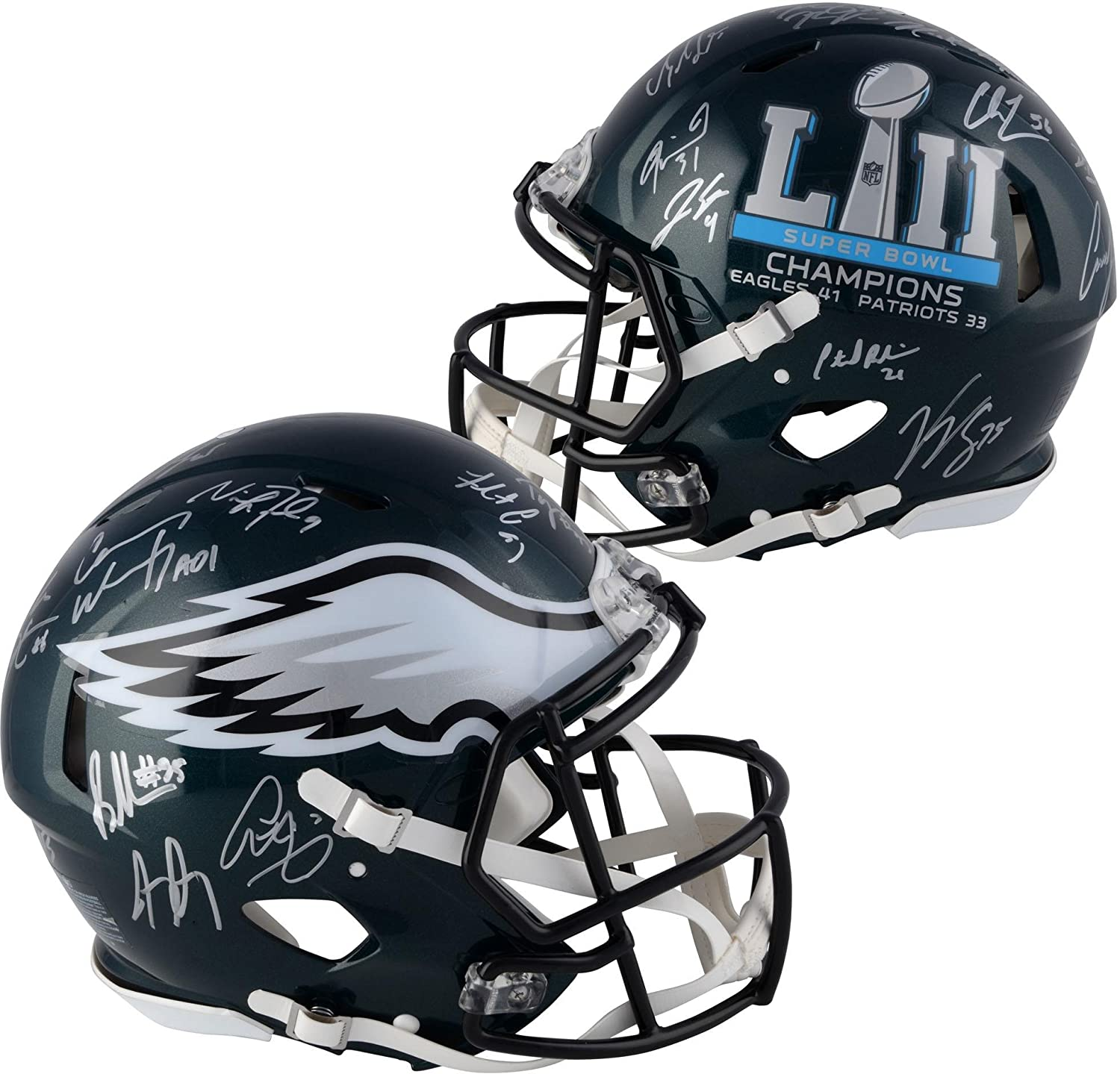 Philadelphia Eagles Autographed Riddell Super Bowl LII Champions Pro-Line Speed Helmet with Multiple Signatures - Fanatics Authentic Certified