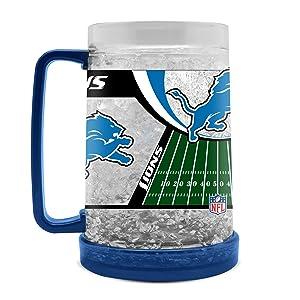NFL Detroit Lions 16oz Crystal Freezer Mug