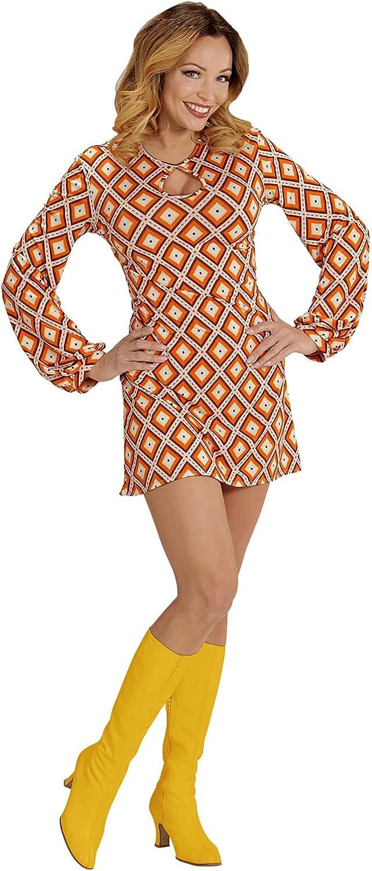 WIDMANN Disfraz groovy retro años 70 mujer S: Amazon.es: Juguetes ...