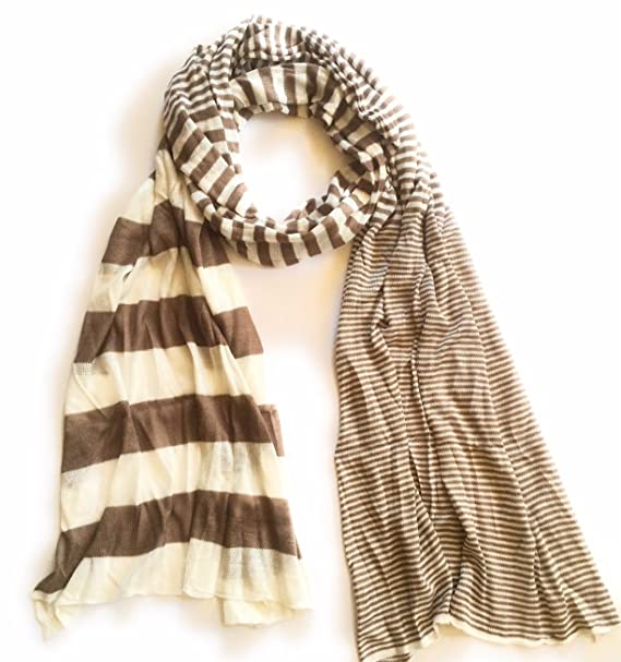 new varieties cheap for sale pick up Anytime Scarf Unisex Nautical Brown Striped Polo Scarf ...