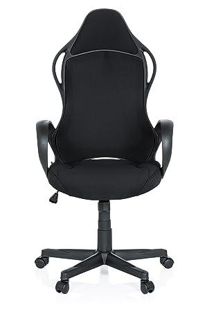 hjh OFFICE 621945 Silla Gaming Racer XTS Tejido Negro Silla de Escritorio Silla de Oficina: Amazon.es: Hogar