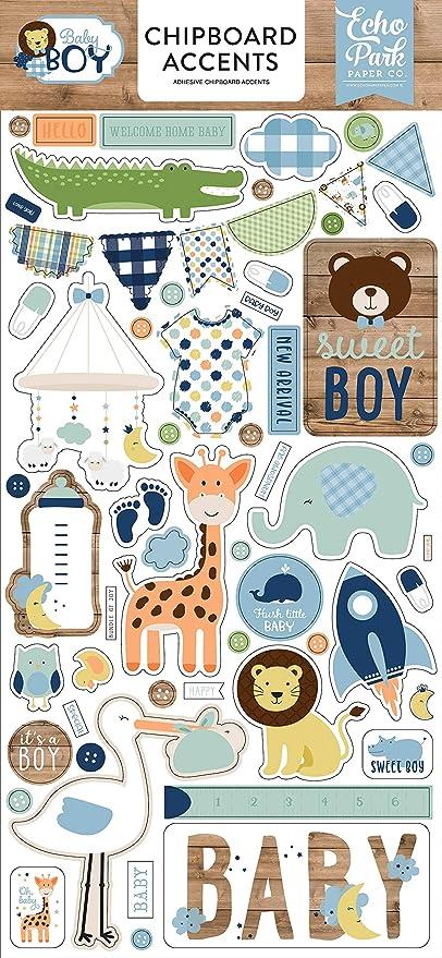 blue mint yellow green Echo Park Paper Company Baby Boy ephemera