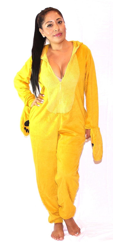 62ab36ed044f Amazon.com: Xhilaration Unicorn Adult Onesie/Pajamas (Meduim, Yellow Lion):  Clothing