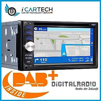 ICARTECH G650 2 DIN universal Radio de coche – con DAB + sintonizador integrado – Smartphone