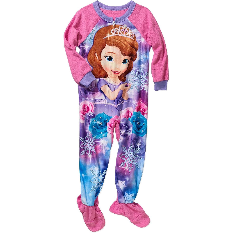 Disney Princess Sofia The First Girl Footed Sleeper Blanket Pajama Size 5T