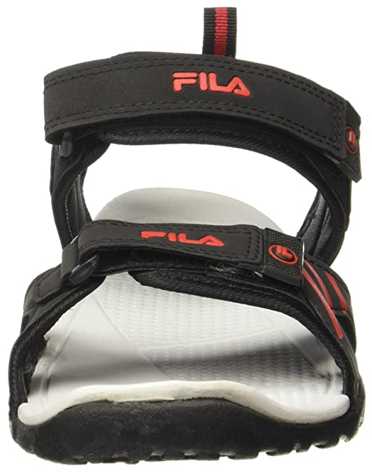 555e1a9e83e0a Fila Men s Orion Blk and Gry Sandals - 11 UK India (45 EU)(11004859)  Buy  Online at Low Prices in India - Amazon.in