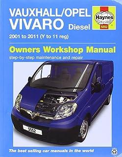 vauxhall opel vivaro diesel 2001 2011 haynes service and repair rh amazon co uk Used Vauxhall Vivaro Vans Vauxhall Vivaro Breakers