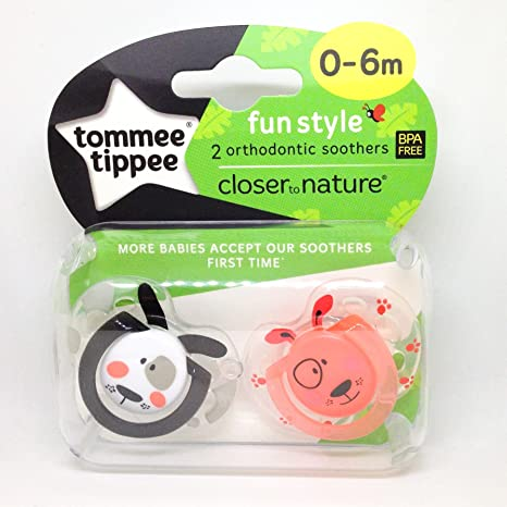 Tommee Tippee Closer To Nature: 2 x Chupete 0-6m (Perros): Amazon.es ...