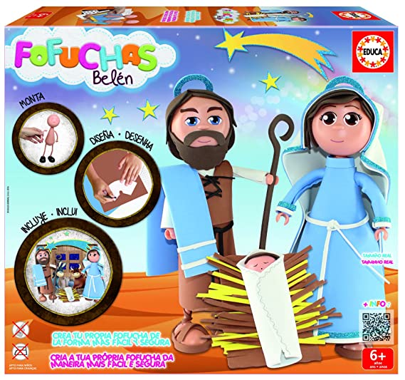 Amazon.com : GAMES & TOYS|EDUCA BORRAS Pack 2 fofuchas Belen : Office Products