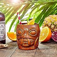 bar@drinkstuff Bora Bora Tiki Taza marrón 16oz/450ML–cerámica Hawaiano