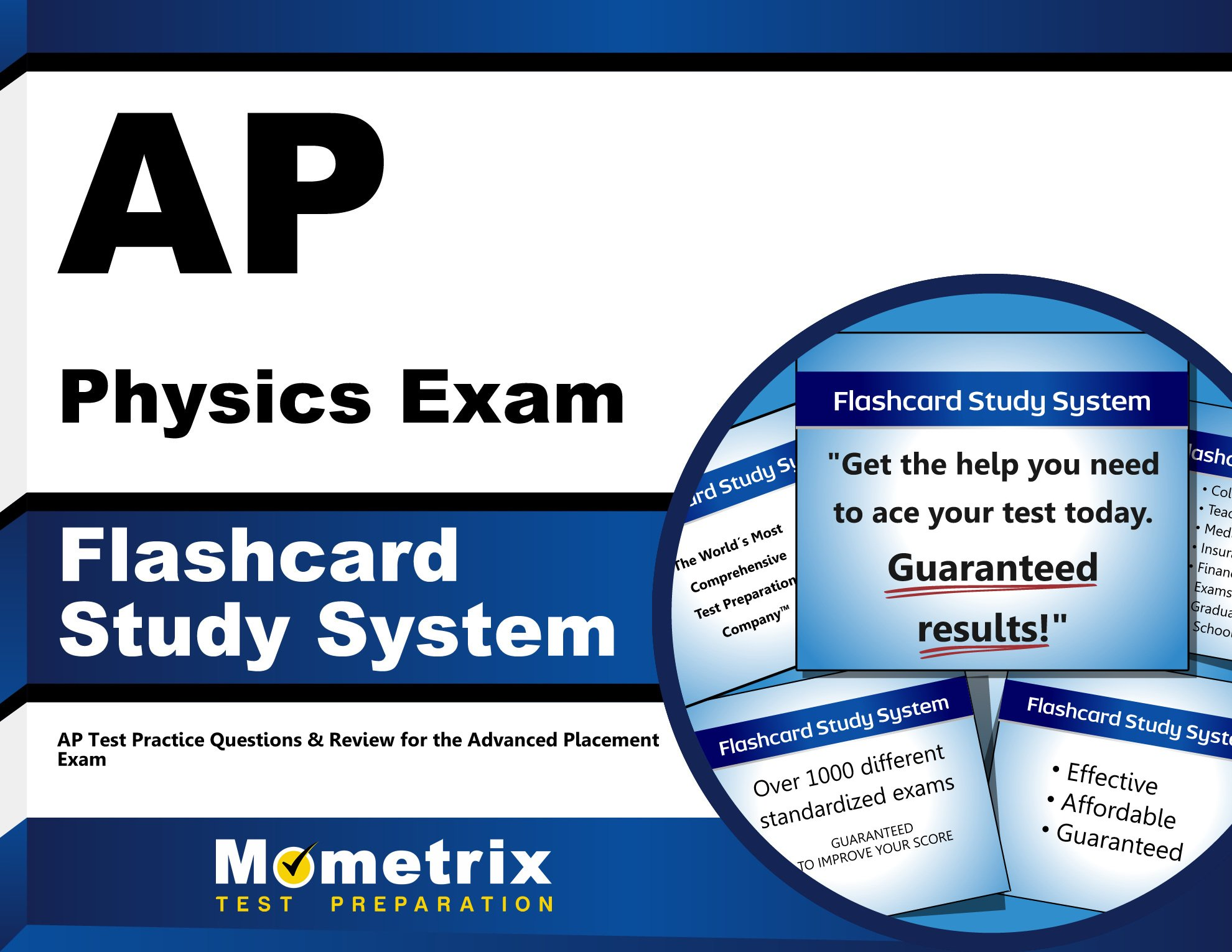 AP Physics Exam Flashcard Study System: AP Test Practice Questions ...