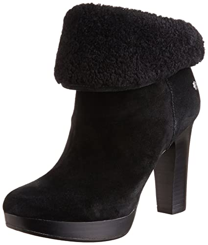 64584a9fa06 UGG Women's Dandylion II Black Ankle-High Leather Boot - 11M: Amazon ...