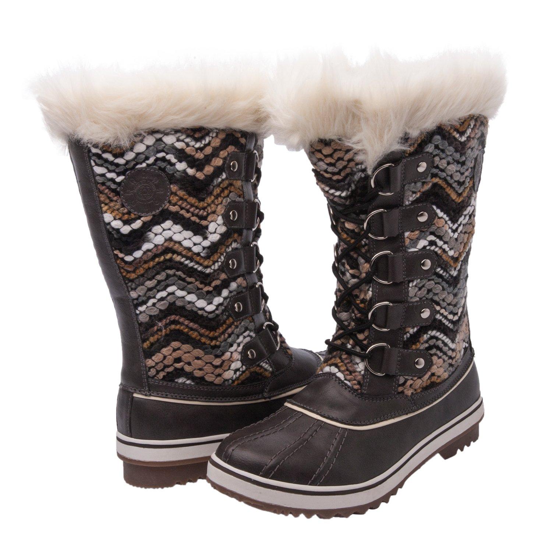 Kingshow Women's Globalwin Waterproof Winter Boots B01H5NGW5G 10.5 D(M) US Women's|Grey/White-6