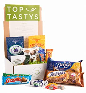 Top Tastys, Imported European Gourmet Chocolate & Candy Variety Pack, Mixed Assortment Sweet Box, 3.5lb Traditional Polish Munchies & Snacks