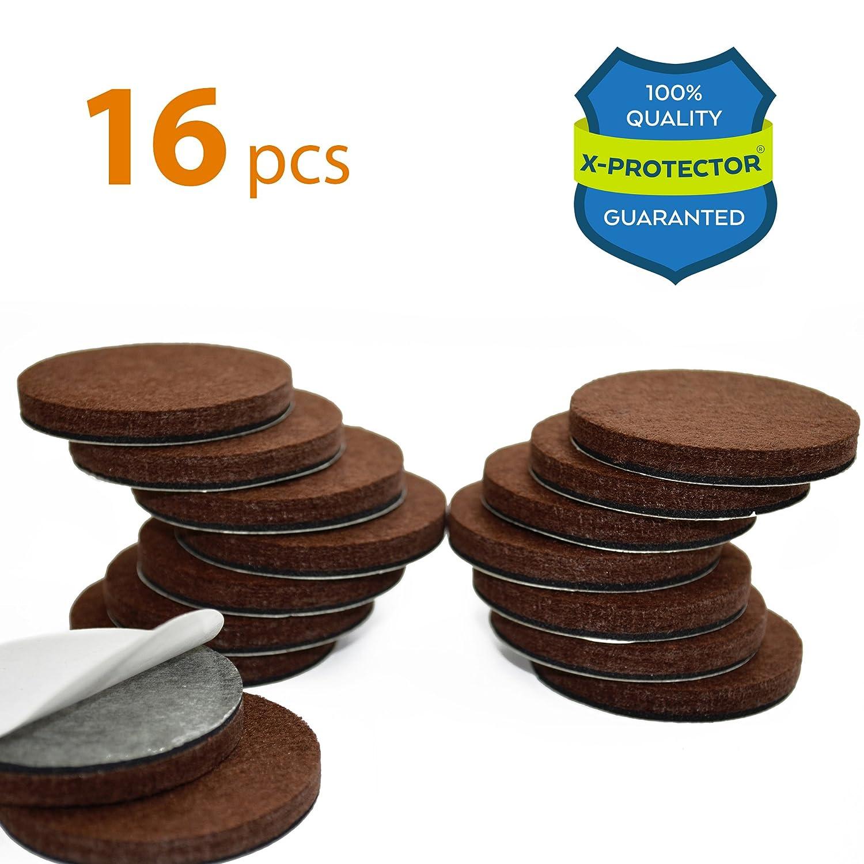X PROTECTOR Premium 16 THICK 1/4u201d HEAVY DUTY Felt Furniture Pads 2