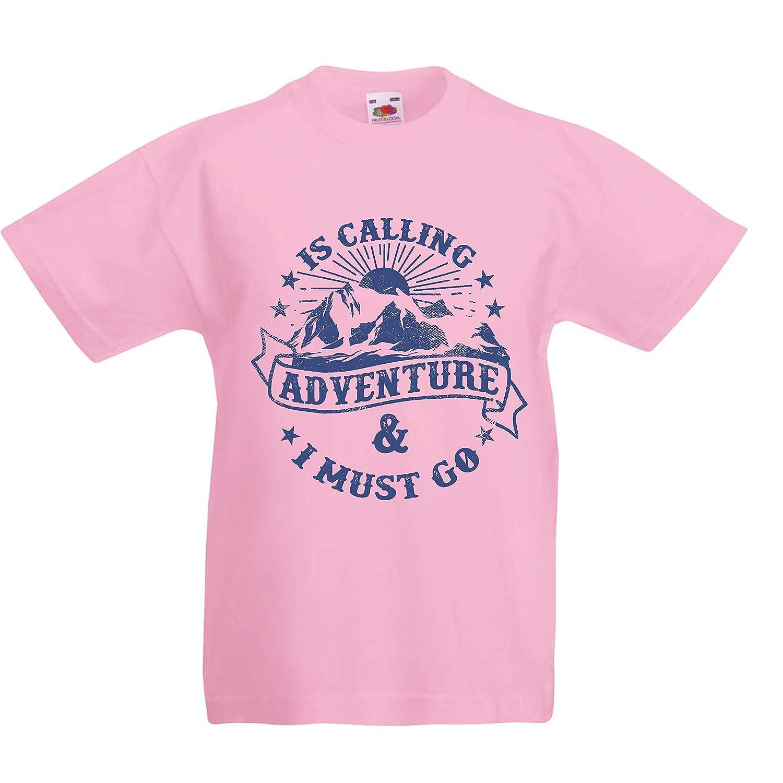 lepni.me Camiseta para Niño/Niña Is Calling Adventure - Ropa de Vacaciones para Vacaciones en Familia, Senderismo en la montaña: Amazon.es: Ropa y ...