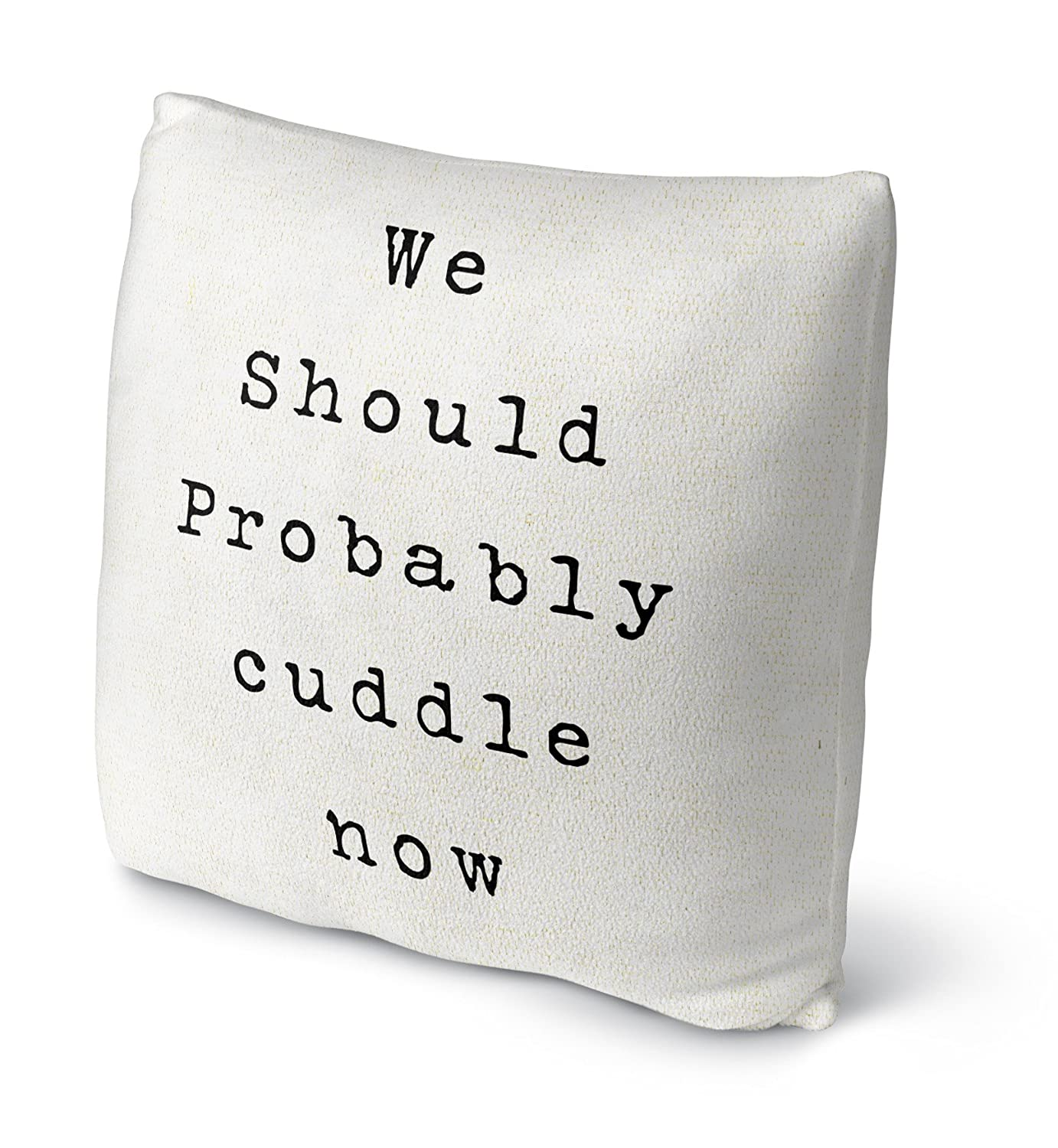 Size: 18X18X4 - KAVKA Designs We Should Cuddle Fleece Throw Pillow, - TRADITIONS Collection TELAVC8100FBS18 Black