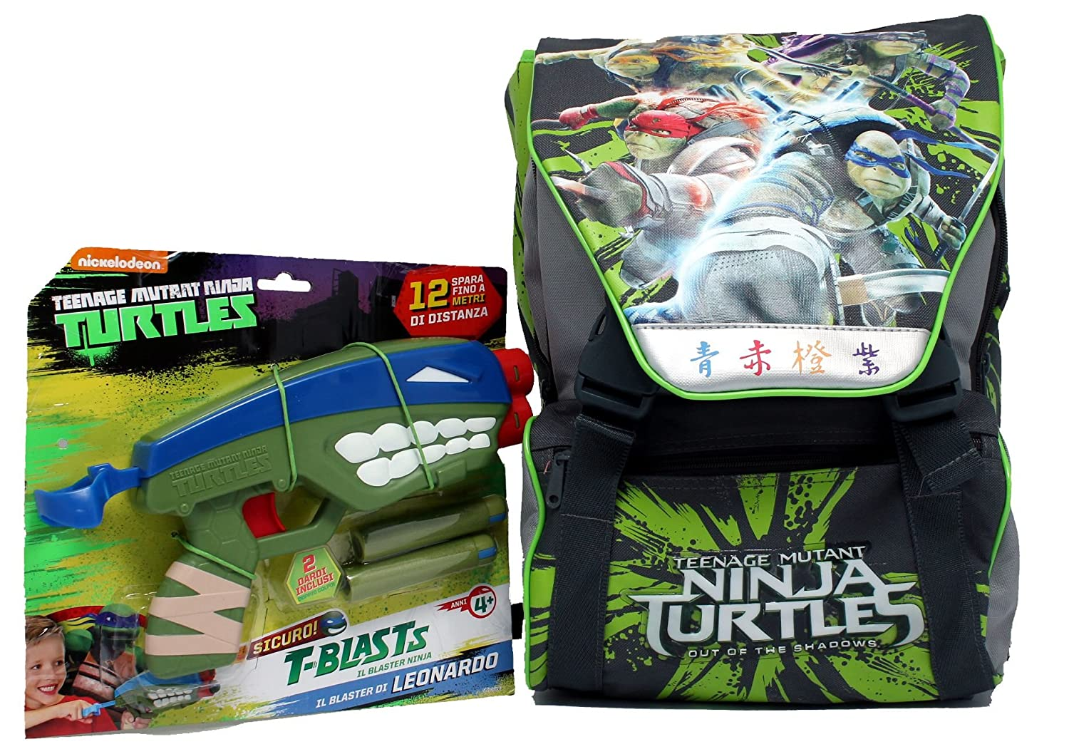 Zaino estensibile Medium Ninjs Tutles in tessuto poliestere ...