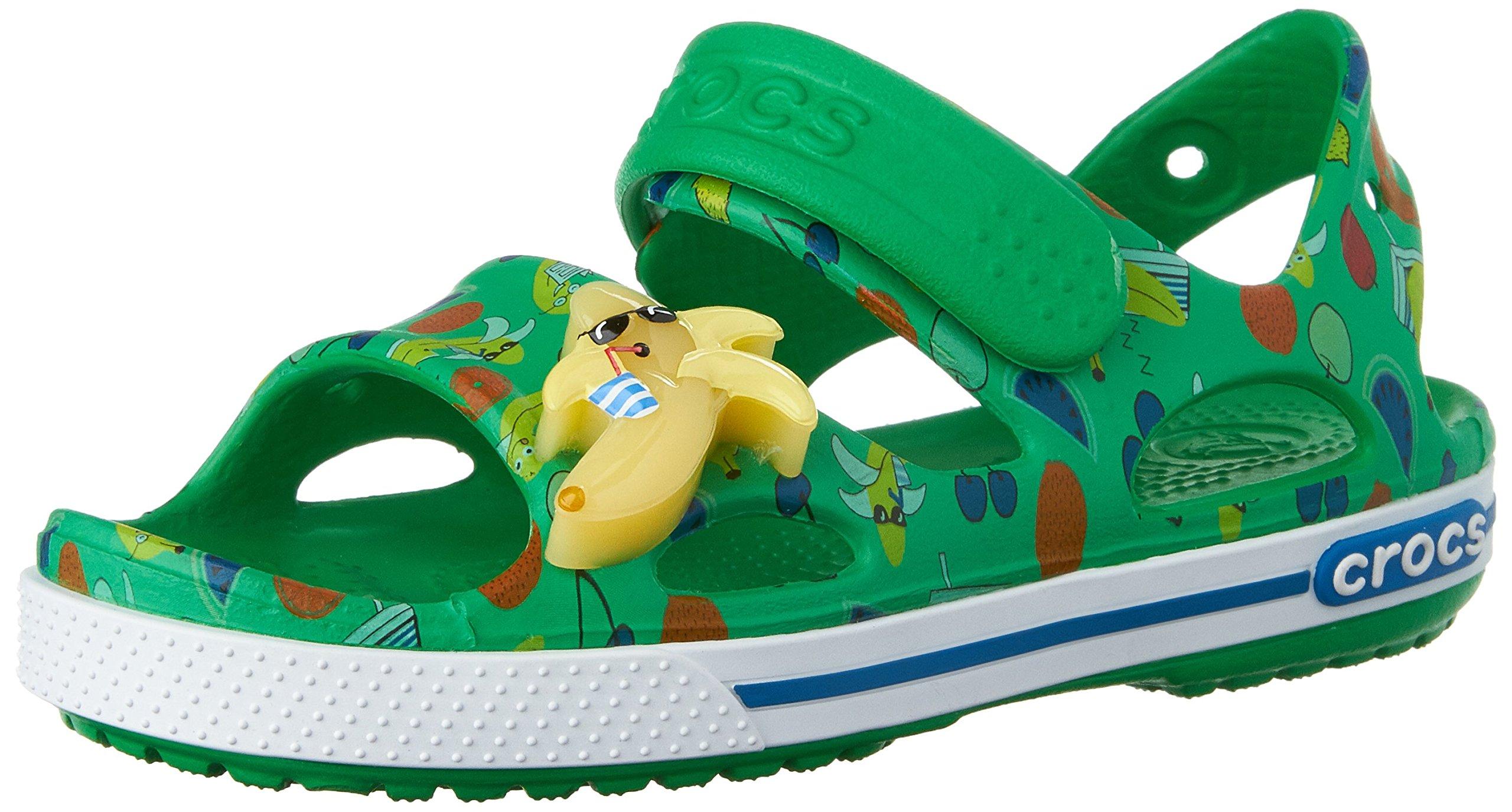 crocs Crocband II Banana LED Sandal (Toddler/Little Kid), Grass Green, 8 M US Toddler by Crocs