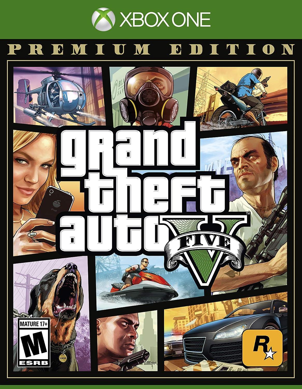 Amazon Com Grand Theft Auto V Premium Edition Xbox One Take 2 Interactive Video Games
