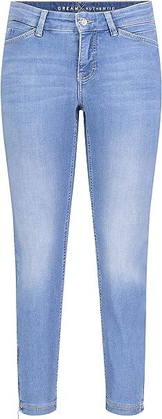 Mac Slim Fit Hose mit Knopfleiste Damen Hose Hellblau
