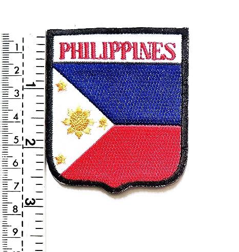 Parche bordado con la bandera de Filipinas para chaleco o chaqueta ...