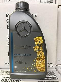 Genuine Mercedes Engine Oil (5W-40) 1 Quart, (Pack of 6