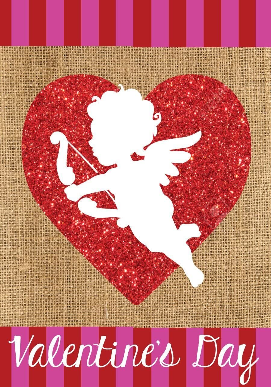 Briarwood Lane Cupid Burlap Valentine's Day Garden Flag Love Holiday 12.5