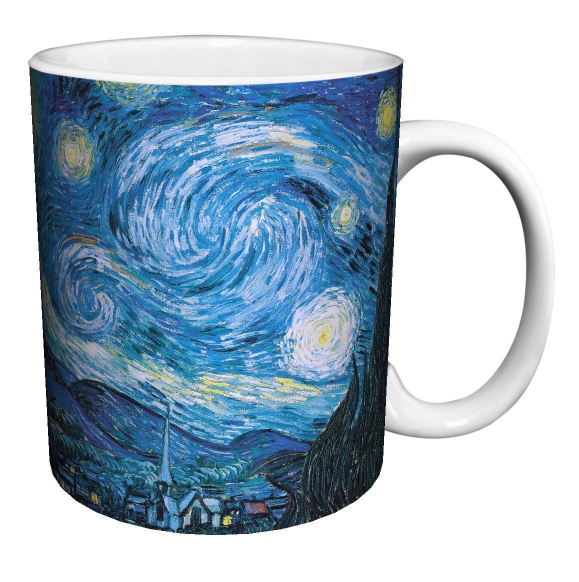 Vincent Van Gogh Starry Night Fine Art Ceramic Gift Coffee (Tea, Cocoa) Mug, 11 Ounce