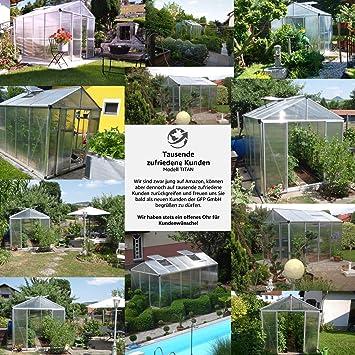 GFP - Invernadero de titanio, invernadero, semillero, invernadero para tomates, bancales, invernaderos, invernadero para tomates, caseta para tomates, tienda de tomates, invernadero de jardín, invernadero de láminas, bancal, caseta de cristal: Amazon.es: