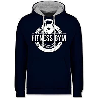 CrossFit & Workout - Fitness Gym Elite Sport Club - Kontrast Hoodie:  Shirtracer: Amazon.de: Bekleidung