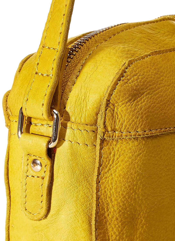 PIECES dam Pcmay Leather Cross Body Fc axelväska, en storlek Citronskal