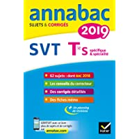 Annales Annabac 2019 SVT Tle S: sujets et corrigés du bac Terminale S