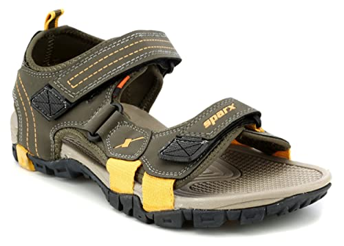 d3aa3006f Sparx Men s Olive and Camel Athletic   Outdoor Sandals - 6 UK India (39.33