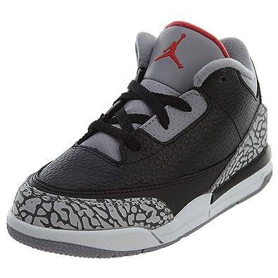 best sneakers 251a2 f04e5 Amazon.com | Jordan Retro 3 OG Black/Cement Black/Fire Red ...