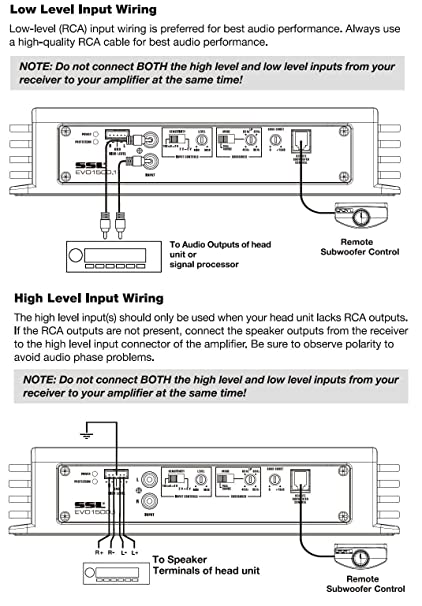 813f4VN JfL._SY606_ ssl evo1500 1 1500 watt monoblock, class a b, 2 8 ohm stable high level input wiring diagram at reclaimingppi.co