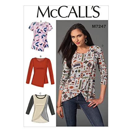 480c4ace5423f4 McCall's Patterns 7247 E5,Misses Tops,Sizes 14-16-18-20-22: Amazon ...