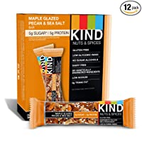 KIND Nuts & Spices, Maple Glazed Pecan & Sea Salt, 12-Ct Bars