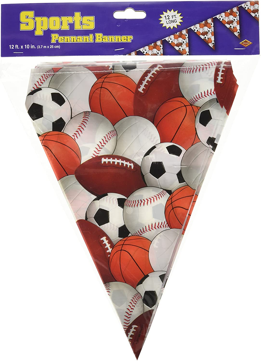 Sports Pennant Banner Party Accessory (1 count) (1/Pkg)