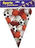 Beistle Sports Pennant Banner, 10-Inch by 12-Feet