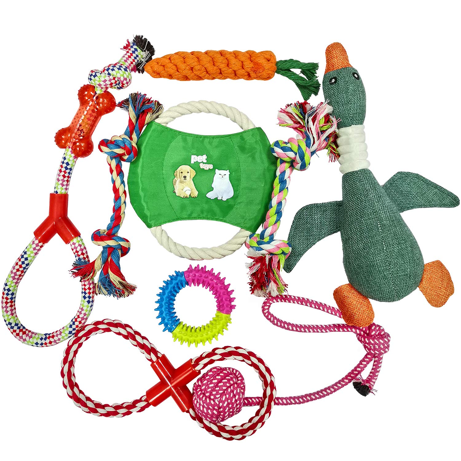 Mozart Dog Toys for Aggressive Chewers-Pet Toys for Dogs Indestructible-Dog Chews Toys-Best Teething Toys for Puppies-Dog Toys for Boredom-Dog Rope Toy-Puppy Toys-Dog Toys Multi Pack (Dog Toys)