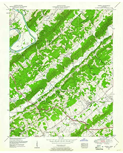Amazon.com : Powell TN topo map, 1:24000 Scale, 7.5 X 7.5 Minute ...