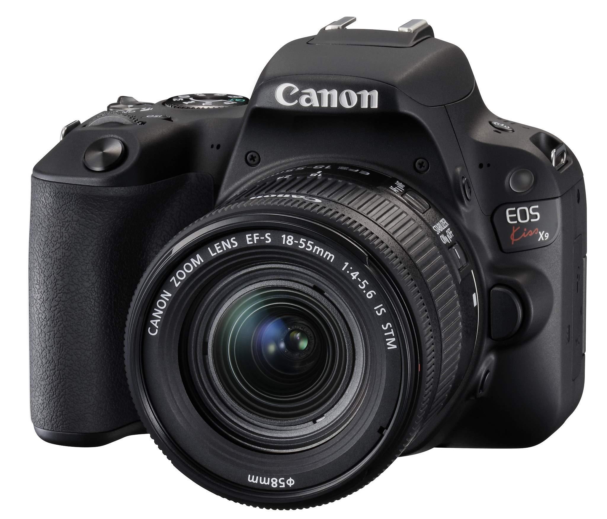 Canon デジタル一眼レフカメラ EOS Kiss X9 EF-S18-55 IS STM レンズキット(ブラック) KISSX9BK1855F4ISSTML product image